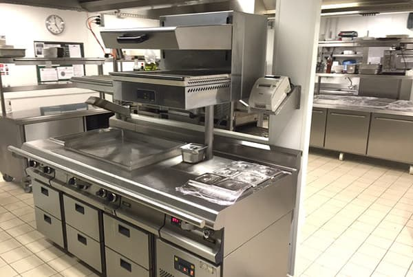 Fourneau hotte inox