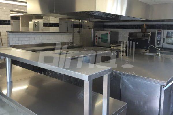 inox sur mesure cuisine professionnelle