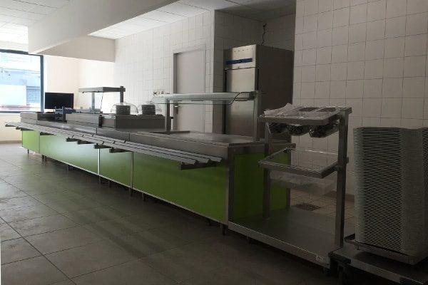vignette inox cuisine professionnelle zone de distribution restauration collective lyon